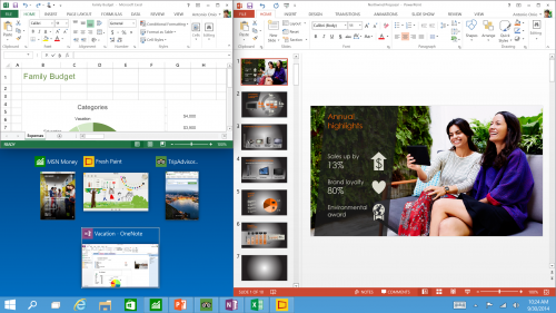 Tres tipos de apps a la vez en Windows 10